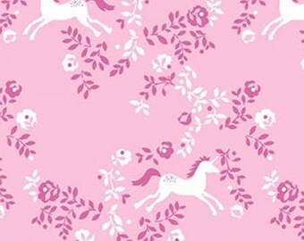 Dear Stella fabric UNICORNS on Pink