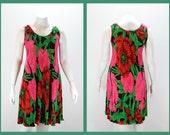 Plus Size Dress - XXL Floral Sleeveless Dress