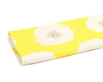 """Sunflower Knit, Yellow Flower Knit Fabric, Cotton Knit Fabric - 33"""" Wide - Fabric By the Yard 68172 GJ"""