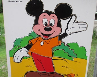 Vintage Mickey Mouse Tray Puzzle// Playskool  190-05//Puzzle 1
