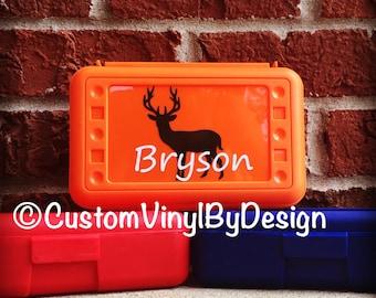 Personalized Pencil Box, Personalized Crayon Box, Boys Pencil Box, Deer Hunter Pencil Box, Personalized School Box, Hunting Pencil Box