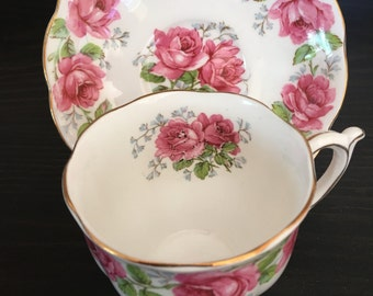 """Pretty Vintage Bell China Teacup in """"Lady Alexander Rose"""" - Tea party teacup, english teacup, pretty teacup, floral teacup, so shabby"""