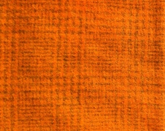 Hand Dyed Felted Wool - orange plaid