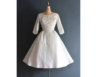 SALE - Linda / 1950s wedding dress / vintage 50s wedding dress