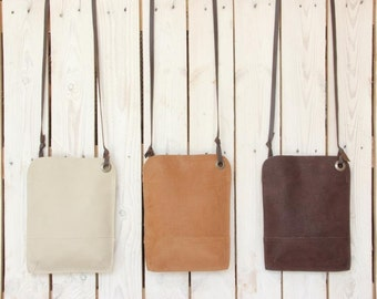 Small leather crossbody bag, Natural leather purse, Small crossbody bag, Brown crossbody bag, Small crossbody purse, Fanny pack leather