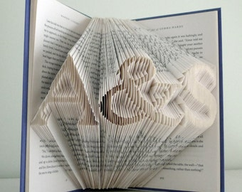 First Anniversary Gift for Boyfriend / Husband - Paper Anniversary  Folded Book Art Gift - Gift for Him - Gift for Her - Best Selling Item