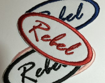 Rebel Patch Retro and Fun Perfect for Shirts Jackets Backpacks Any Color Available