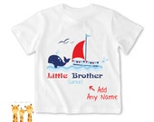 Little brother shirt Boat Tshirt - Personalized Little brother Shirt or Bodysuit - 044_BB_S2C_boat