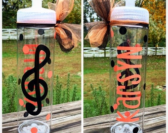 Personalized Music Treble Clef Water Bottle