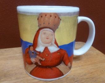 Fernando Botero art mug Limited Edition Lady and Child