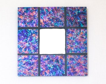 Unique Wall Mirror, Stained Glass Mosaic, Decorative Accents, Colorful Decor, Mosaic Wall Art, Modern Mirror, New Home Housewarming Gift