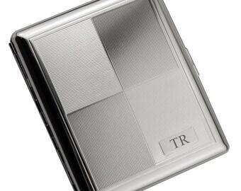 Monogrammed Two-Tone Silver Cigarette Case