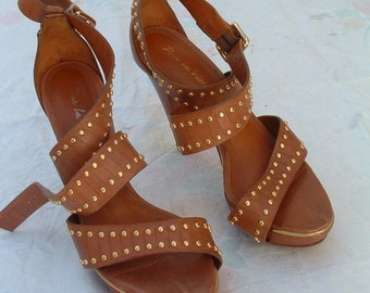 free shipping brand name in FRANCE   sandals made in BRAZIL CIRCA 1995'S size 36 1/2