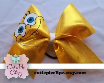Spongebob Squarepants Cheer Bow