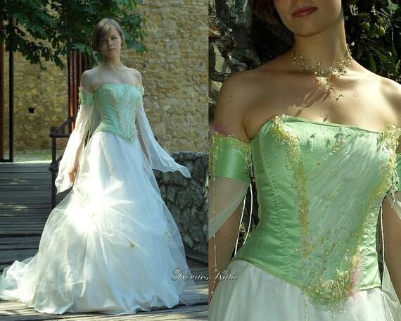 Fairy Princess Corseted Ball or Alternative Wedding Gown - Ariadne.