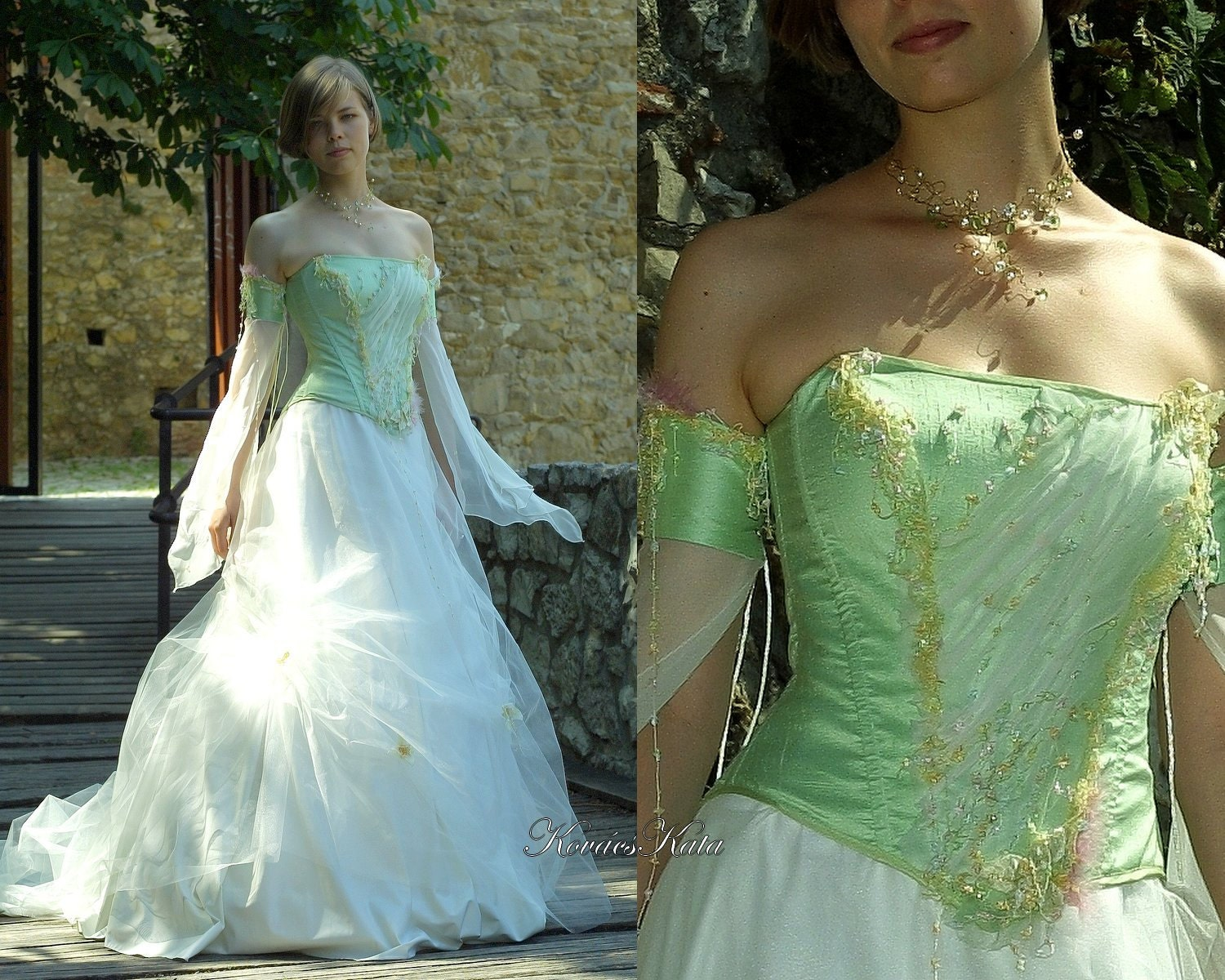Fairy Princess Corseted Ball or Alternative Wedding Gown