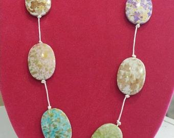 Satin Sand Dollar necklace
