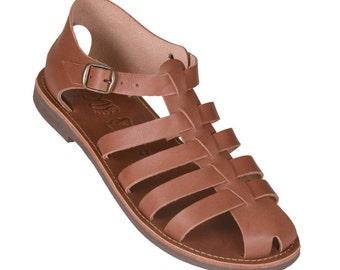 NEW!!! Man Ancient Greek Leather Sandals