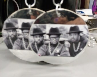 Large run DMC earrings