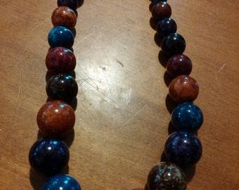 ON SALE Pretty multi -colored Bead Necklace