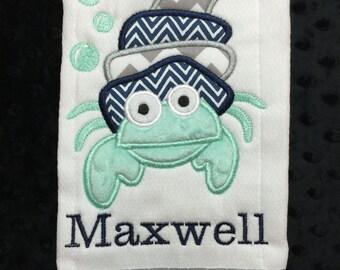 Hermit Crab Burp Cloth