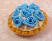 1:12 scale Blue Roses Dessert....handmade.....miniature