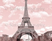 Buy 2 Get 1 Free, Paris in Pink, Eiffel Tower, Paris Decor, France Digital Printable Fine Art Photography, Instant Download
