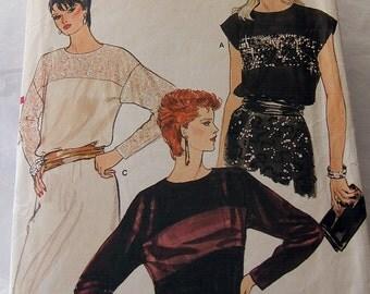 Vogue 8838 size 6 - 10 cut but not trimmed vintage womans blouse