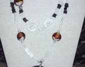 Double-strand Shell Necklace and Earring Set