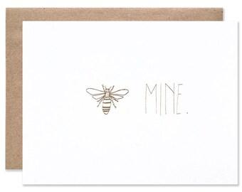 Bee Mine Foil Card