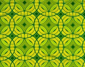 Geometric Emerald Green Embroidered Upholstery Fabric - Iridescent Silk Drapery - Green Gold Headboard Fabric - Bright Green Pillow Covers