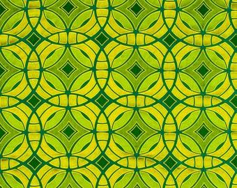 Emerald Green Silk Drapery Fabric - Modern Green Geometric Fabric for Furniture - Custom Silk Drapery - Custom Lime Green Pillows Cushions