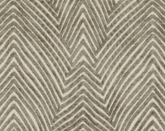 Modern Ivory Taupe Velvet Upholstery Fabric for Furniture - Textured Neutral Color Velvet Throw Pillows - Modern Taupe Velvet for Furniture