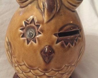 Vintage Owl savings bank