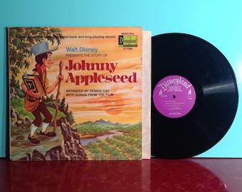 JOHNNY APPLESEED Walt Disney Soundtrack Album Vinyl Record LP 1971 Storybook And Songs Disneyland Children's Very Good Condition Vintage