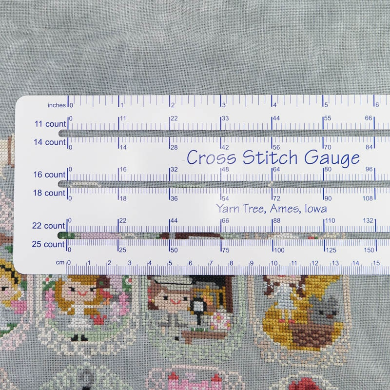 Cross stitch gauge counted ruler fabric count