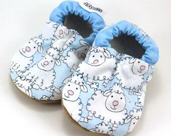 baby sheep shoes sheep clothing baby booties baby boy shoes baby girl shoes soft sole shoes vegan baby farm lamb booties farm animals
