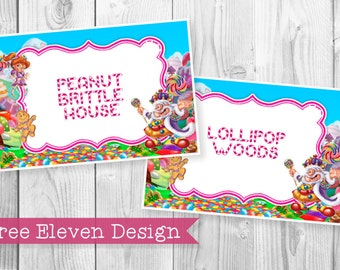 Candyland PRINTABLE Party Signs