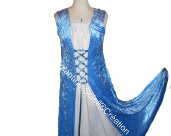 Medieval sleeveless dress, custom.