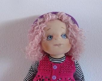 Klaartje, Handmade Soft Cloth Doll