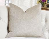 Mohair Pillow - Schumacher Fur Pillow Cover - Light Brown - Schumacher - Designer Brown Pillow