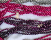 "Vintage Mercury Glass Bead Garland, Pink & Purple Small 1/4"" Beads, Feather Tree, Bead Garland"