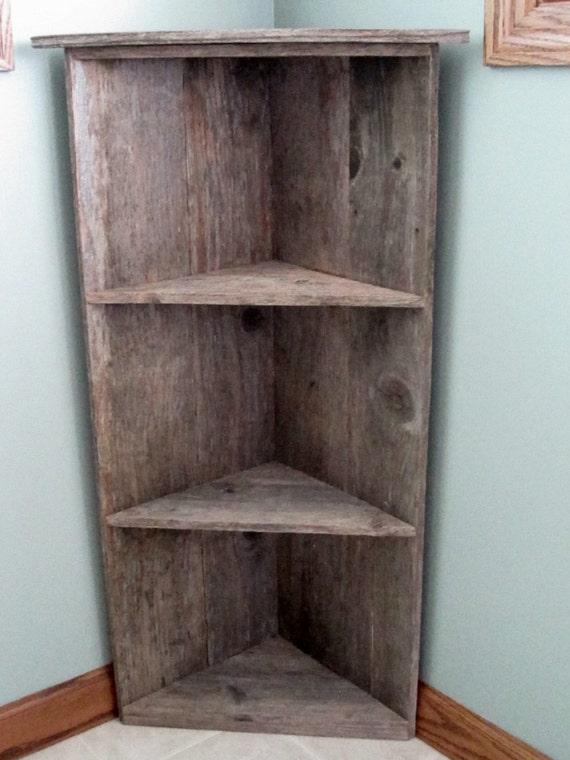 barnwood corner shelf free standing. Black Bedroom Furniture Sets. Home Design Ideas