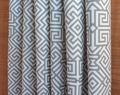 WINTER SALE ⋘ One Pair Window Treatments Curtains Drapery Panels 24W or 50W x 63, 84, 90, 96 or 108L Santorini Summerland Gray shown