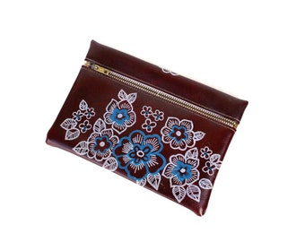 Cosmetic bag Soviet vintage cosmetic bag Cosmetic pouch Make up bag Toiletry bag Vintage bag for toiletries Floral Unused