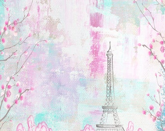 Spring in Paris Backdrop - Vinyl Photography  Backdrop Photo Prop