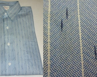 NOS / 1940s Dress Shirt / S / 14 / Pilgrim Strongheart / 1940s Shirt / Pinstripe Shirt / Vintage 1940s Menswear / New Old Stock / Deadstock
