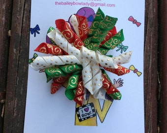Ready to Ship Christmas Korker Hair Bow
