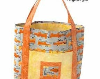 Totally Awesome Totebag by Karen West - For the Love of Fabric