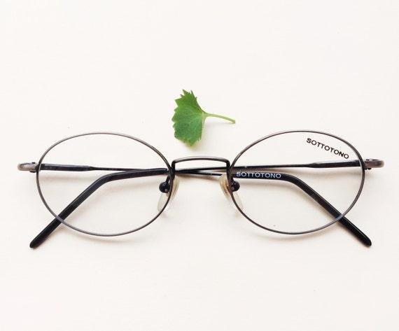 italian oval frames burnished silver oval eyeglasses